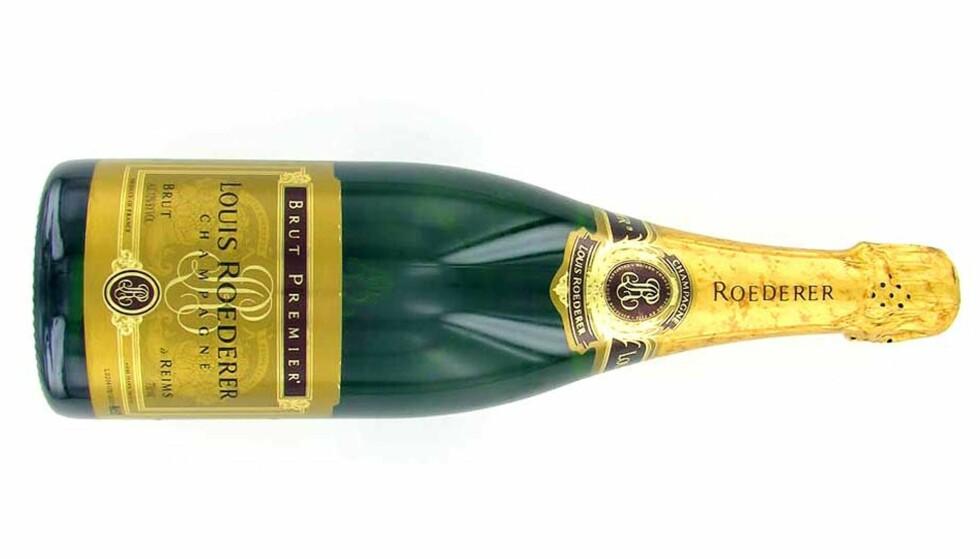CHAMPAGNE TIL LUTEFISK: Vinmonopolet anbefaler champagne til lutefisken i år, det samme gjør våre anmeldere. Særlig denne intense Brut Vintage 2002 fra Louis Roederer.