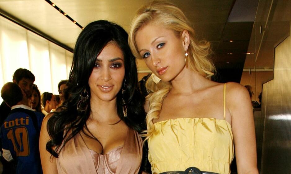 DEN GANG DA: Kim Kardashian og Paris Hilton var lenge nære venninner. Her sammen for tolv år siden i 2006, 25 år gamle. Foto: AP / NTB Scanpix