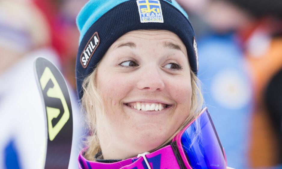 KRASJET UNDER TRENING: Svenske Anna Holmlund. Foto: Gian Ehrenzeller/Keystone via AP/NTB Scanpix