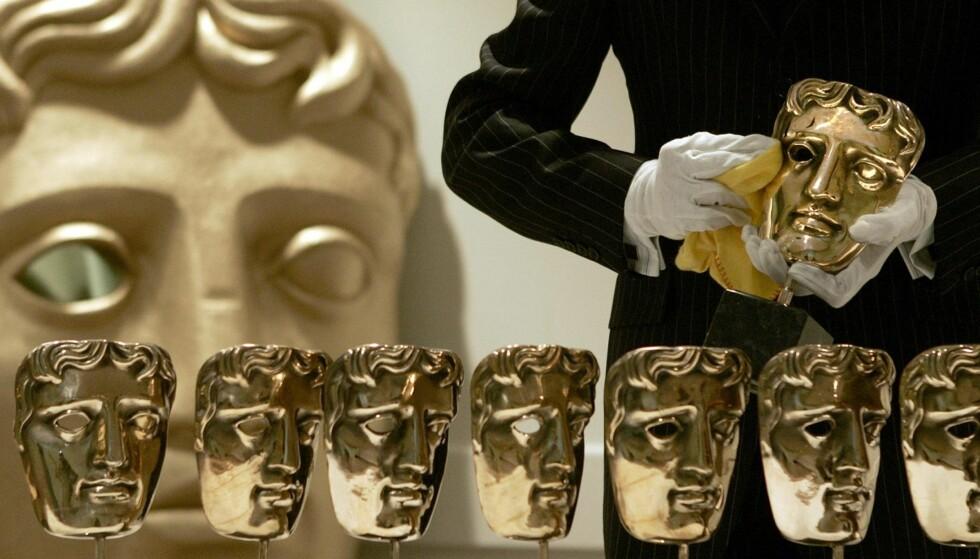 STRENGERE REGLER: BAFTA-prisens statuett er en gyllen maske. Den kan du nå nektes å få hvis filmen din ikke følger visse mangfoldskriterier.