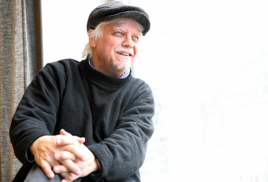 JUBILERER: Trond Granlund feirer at han har vært over 50 år på veien med CD-boks nummer to på like mange år. Foto: Gitte Johannessen / NTB Scanpix