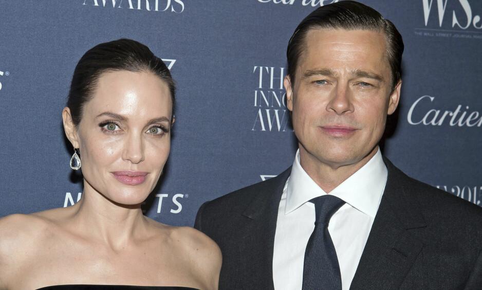 <strong>KJEMPER OM BARNA:</strong> At det skulle bli slutt mellom Angelina Jolie og Brad Pitt, hadde nok de færreste sett for seg. Nå går de gjennom en tilsynelatende komplisert skilsmisse. Foto: Charles Sykes/Invision