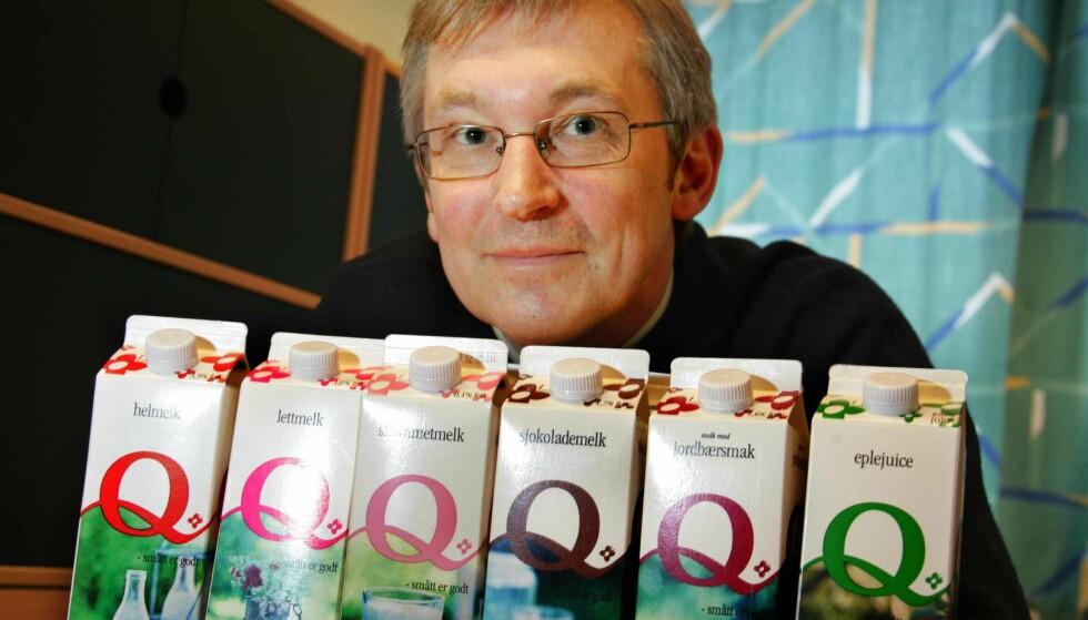 KALLER TILBAKE MELK: Bent Myrdahl ber forbrukerne kaste skummetmelk produsert i en viss periode. Foto: Ørn E. Borgen / SCANPIX