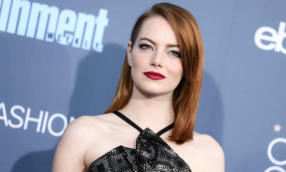 AVVIST: Emma Stone, som etter hvert vil bli å se i den amerikanske versjonen av TV 2-serien «Maniac», forteller at hun har opplevd at ideer hun kommer med under filminnspillinger ikke tas seriøst, eller feies under teppet. FOTO: Rex Features / NTB Scanpix