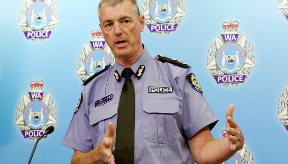 GJENNOMBRUDD: Politisjef Karl O'Callaghan håper at politiet endelig har løst den 20 år gamle drapsgåten som rystet Vest-Australia. Foto: EPA / NTB scanpix