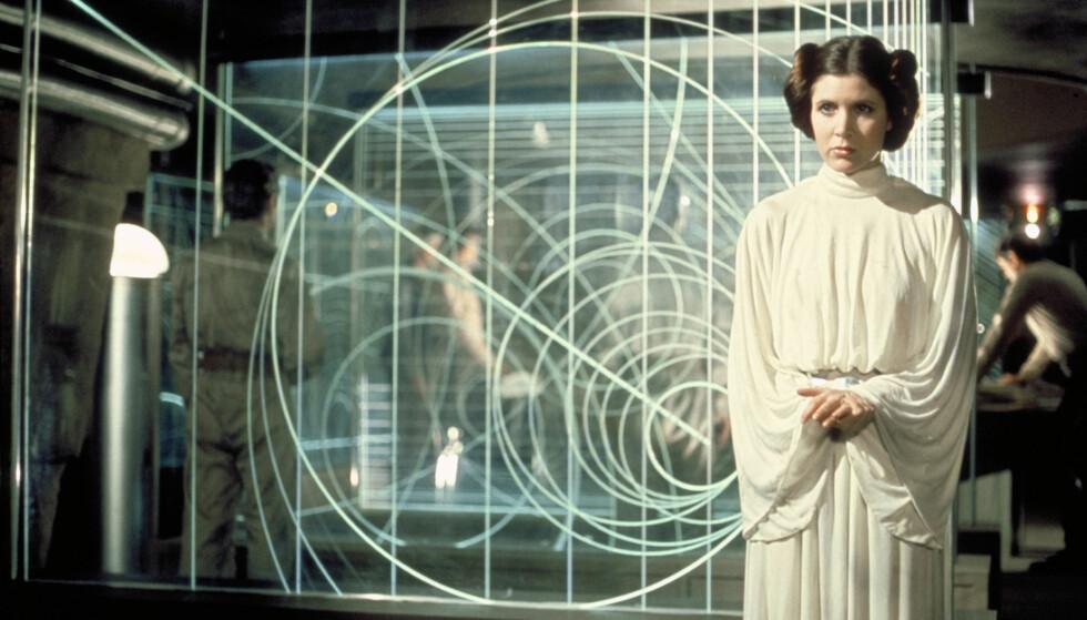 RYKTER: Etter at det ble kjent at skuespillerlegenden Carrie Fisher døde, har ryktene herjet verden over om hva som vil skje videre med den ikoniske rollen. «Star Wars» bekreftet fredag at hun iallfall ikke vil bli dataanimert. Foto: NTP Scanpix