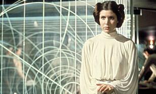 DØD: Hollywood-stjerna Carrie Fisher døde i romjula. Torsdag ettermiddag amerikansk tid ble det avholdt en minneseremoni for stjerna. Foto: NTB scanpix