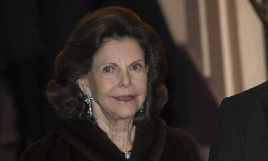 FORKJØLET OG SVIMMEL: Dronning Silvia av Sverige er innlagt på sykehus. Foto: NTB Scanpix