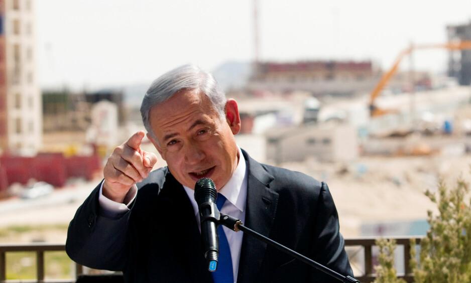 KRITISK: Benjamin Netanyahu er klar på hva han mener om FNs siste krav. FOTO: REUTERS/Ronen Zvulun/NTB Scanpix