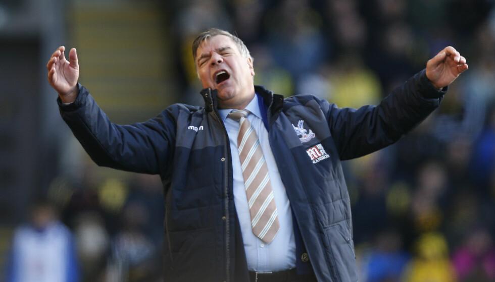 <strong>SKUFFA:</strong> Sam Allardyce kunne startet karrieren som Crystal Palace-manager med en trepoenger mot Watford, men straffebommen til Christian Benteke ble kostbar. Foto: Action Images via Reuters / Paul Childs Livepic / NTB Scanpix