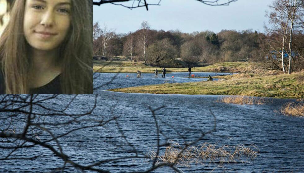 BLE FUNNET: 17 år gamle Emilie Meng ble funnet i denne innsjøen i Borup søndag. Foto: Ida Guldbæk Arentsen / BT