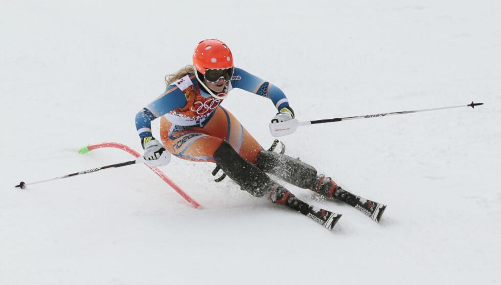 LEVERTE VARENE: Ragnhild Mowinckel hadde en strålende førsteomgang. Her fra OL i Sotsji 2014. Foto: Lise Åserud / NTB scanpix
