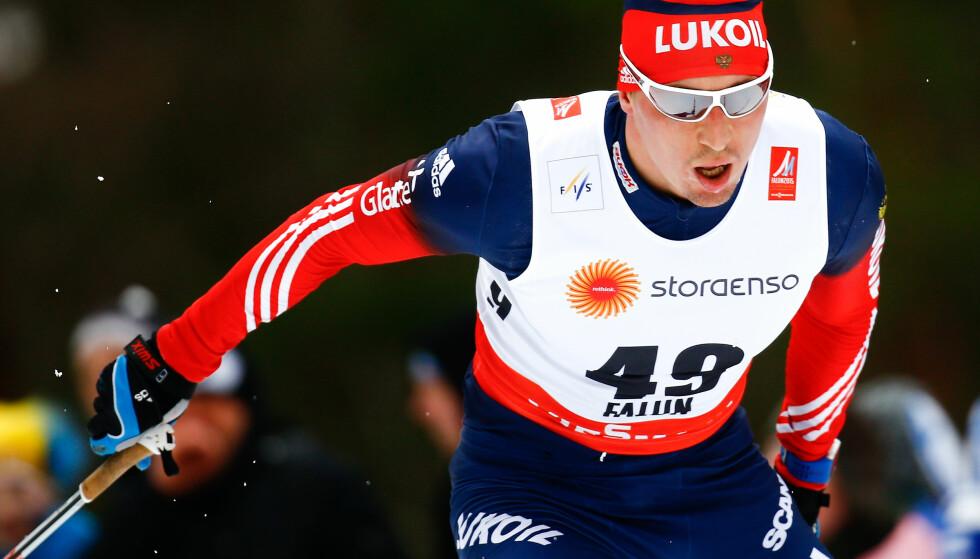UTESTENGT: FIS bekrefter i ettermiddage at Aleksander Legkov og seks andre russiske langrennsløpere er midlertidig utestengte. De mister dermed årets Tour de Ski. Foto: REUTERS / Kai Pfaffenbach / NTB Scanpix