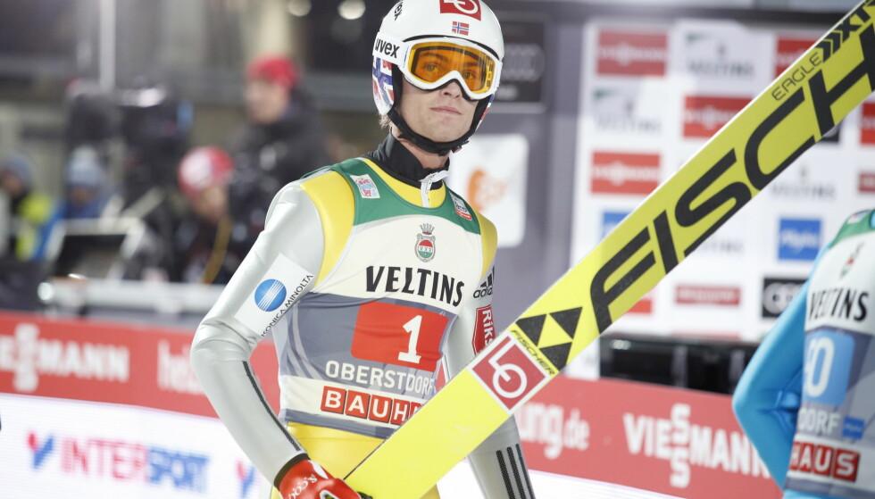 UTENFOR PALLEN: Daniel-André Tande ble nummer fire etter en svak førsteomgang. Han ble beste nordmann. Foto: Terje Bendiksby / NTB scanpix