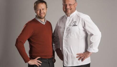 <strong>SNART PÅ TV:</strong> Bent Stiansen og Aller Medias matredaktør Christopher Sjuve er klare med en ny runde av «Fingrene av fatet» på TV 2.