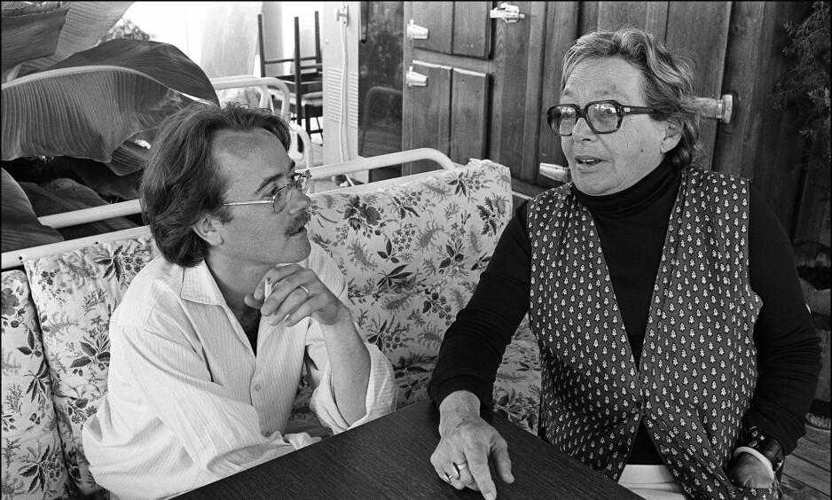 STERKT PAR: Yann Andréa Steiner og Marguerite Duras. Han var homofil og 30 år yngre enn henne, men de holdt sammen til siste stund.