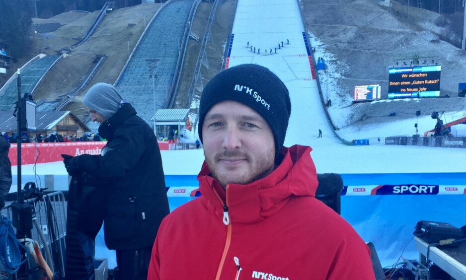 PÅ PLASS I BAKKEN: NRK-ekspert Johan Remen Evensen. Foto: TORE ULRIK BRATLAND