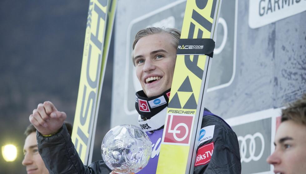 KJEKK GUTT: Har norsk hoppsport fått sin første stabile vinner i 22 år gamle Daniel-Andre Tande? FOTO: Terje Bendiksby / NTB scanpix