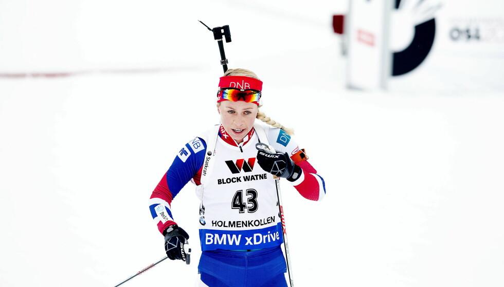 KLAR: Tiril Eckhoff har slitt med en forkjølelse, men var mandag tilbake i trening. Foto: Bjørn Langsem / Dagbladet