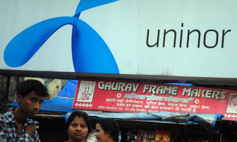 INGEN KOMMENTAR: Telenor vil ikke kommentere ryktene om salg i India. EPA/DIVYAKANT SOLANKI