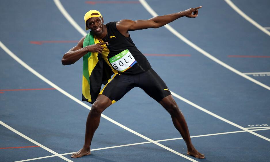 VELKJENT DISTANSE: Et nytt år skal sprintes gjennom, her symbolisert ved verdens raskeste mann, Usain Bolt fra Jamaica. Foto: NTB Scanpix