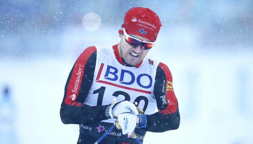 VANT: Andreas Nygaard var sterkest og tok seieren på 50-kilometeren i det kinesiske Vasaloppet. Tredjeplassen gikk til Stian Hoelgaard. Foto: Terje Pedersen / NTB scanpix