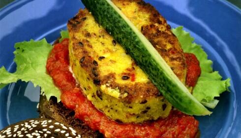 FARGERIKT: Hva kokkene vil friste passasjerene med på vegancruiset fra England er foreløpig ukjent. Det holder ikke med suppe og salat. Kanskje heller polentaburger, som på bildet.Foto: Sam Stadener/PRESSENS BILD