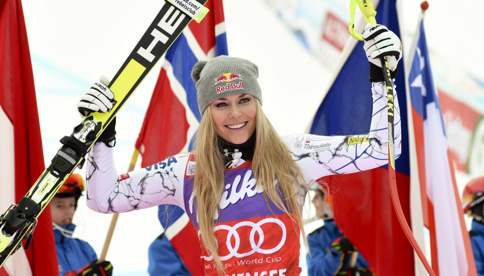SNART COMEBACK: Lindsey Vonn er kanskje verdens mest kjente kvinnelige alpinist. Nå jakter hun comeback etter skade, men snakker ut om ensomhet i et nytt intervju. Foto: AP Photo/Pier Marco Tacca