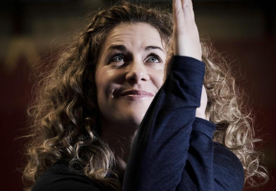 Roer ned: Cecilie Skog roer ned med yoga etter buldring. Alle foto: Morten Rakke