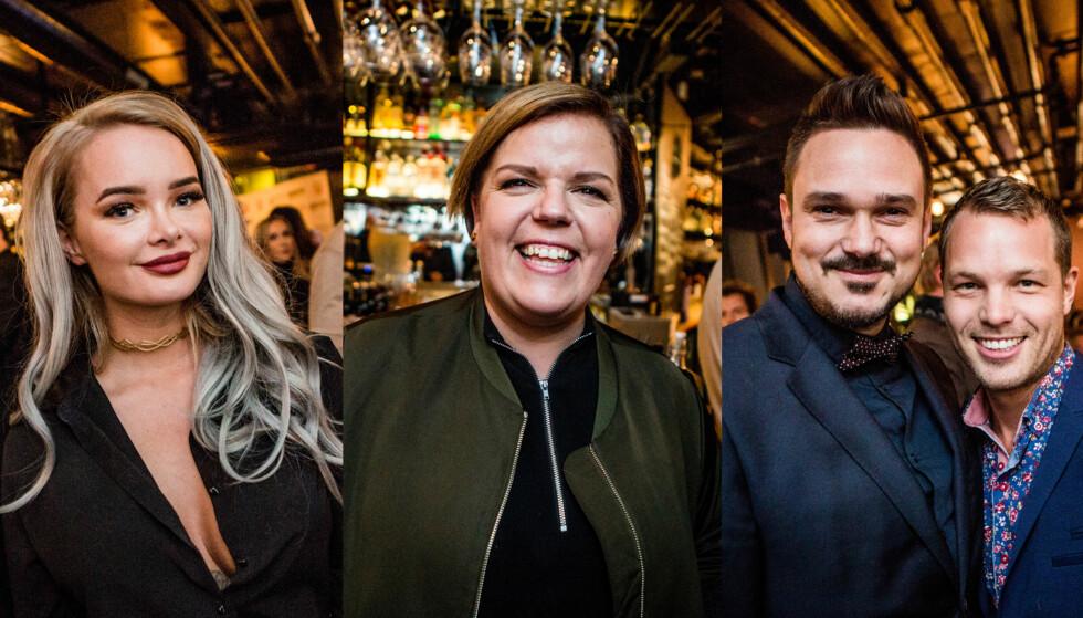 <strong>ÅPNER DØRENE:</strong> Sophie Elise Isachsen, Else Kåss Furuseth og Tore Petterson (her med kjæresten) erkjenner at de tok noen snarveier under «4-stjerners middag». Her avbildet på premierefest i Oslo torsdag. Foto: Christian Roth Christensen / Dagbladet