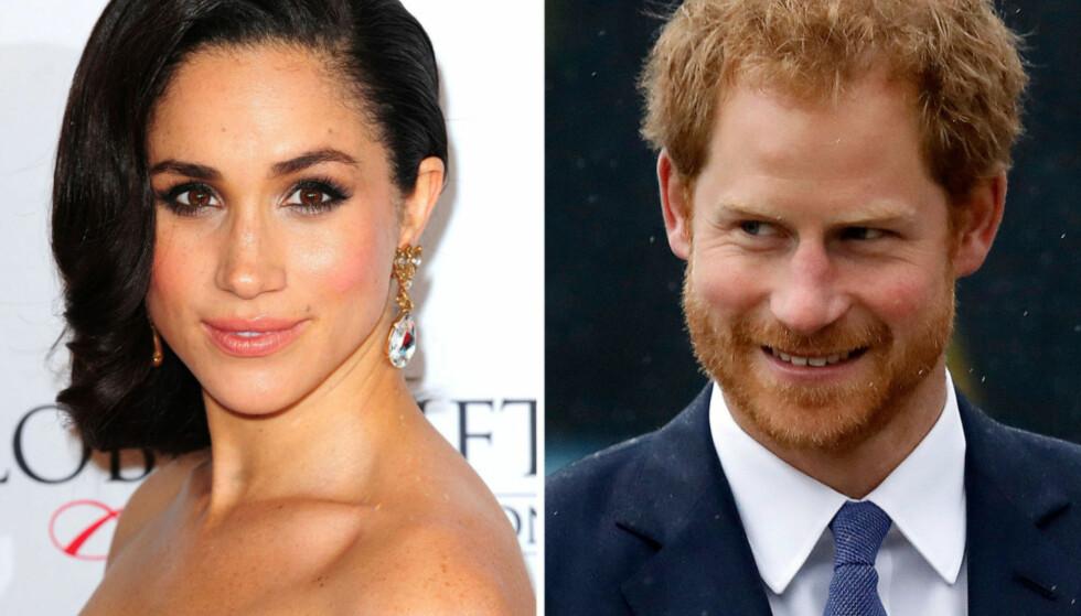 KJÆRESTER: Meghan Markle og prins Harrys forhold ble bekreftet i starten av november. Foto: NTB Scanpix