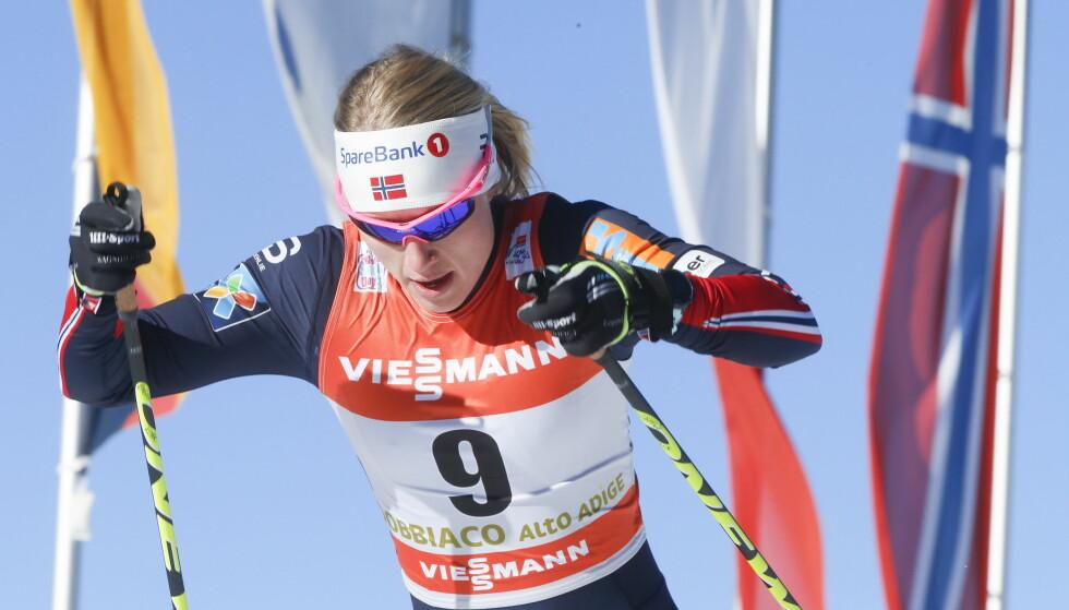 BRYTER: Ragnhild Haga avbryter Tour de Ski, og drar hjem for å forberede seg til VM-kvalikrenn. Foto: Terje Pedersen / NTB scanpix