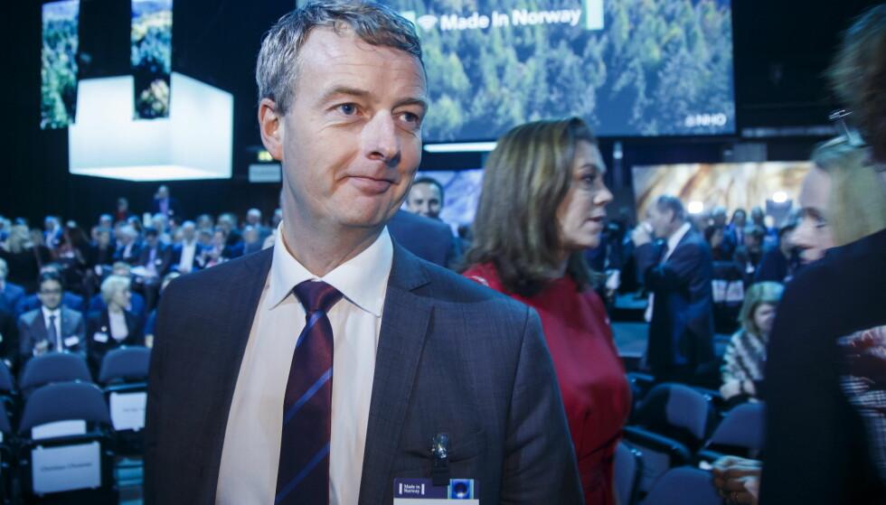 OSLO  20170105. Olje- og energiminister Terje Søviknes på NHO årskonferanse i Oslo Spektrum torsdag. Foto: Heiko Junge / NTB scanpix