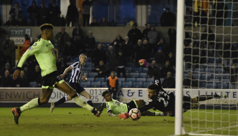 RØYK UT: Bournemouth uten Joshua King i troppen tok for lett på 1.-divisjonslaget Millwall i FA-cupen. Premier League-laget røk ut med 0-3-tap lørdag. Foto: Reuters / Tony O'Brien / NTB Scanpix