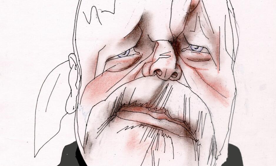 TILTALT: I dag starter rettssaken mot Eirik Jensen i Oslo tingrett. Tegning: Finn Graff
