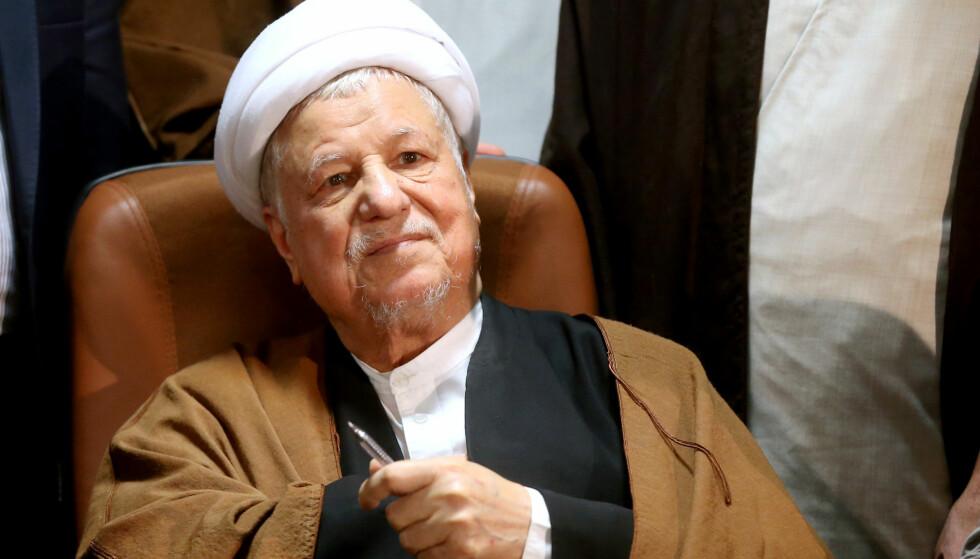 DØD: Akbar Hashemi Rafsanjani var kjent som en reformvennlig politiker og var Irans president fra 1989 til 1997.  Foto:AP Photo/Ebrahim Noroozi/NTB Scanpix