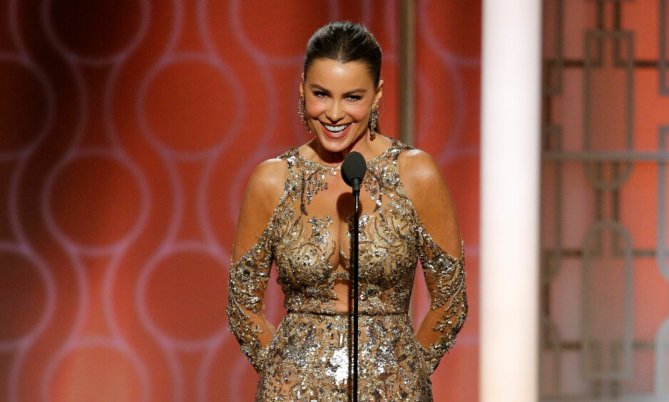 KONTROVERSIELL: Sofia Vergaras vits under nattas Golden Globe-utdeling ble ikke godt mottatt av alle. Foto: NTB scanpix