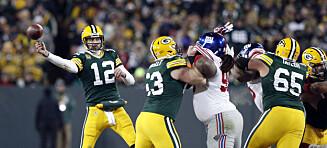 Rodgers herjet da Packers slo ut Giants