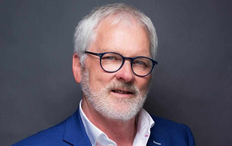 KRITISK TIL TV-STØTTE: Stig Finslo, direktør for utgiverspørsmål i Amedia, er kritisk til kulturminister Linda Hofstad Hellelands (H) planer om å gi millionkompensasjon til en kommersiell allmennkringkaster.Foto: Amedia