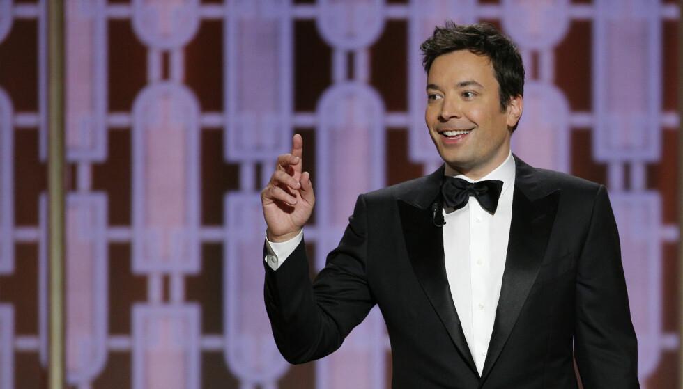 TABBE: Da GoldenGlobes-vert Jimmy Fallon skulle åpne showet, var ikke alt slik det skulle være. Dette resulterte i masse latter fra salen. Video: Hollywood Foreign Press Association /DCP Rights, LLC via CNN