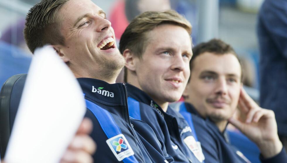 MØTES: Stefan Johansen og Markus Henriksen møtes for Fulham og Hull i FA-cupen. Foto: Berit Roald / NTB scanpix