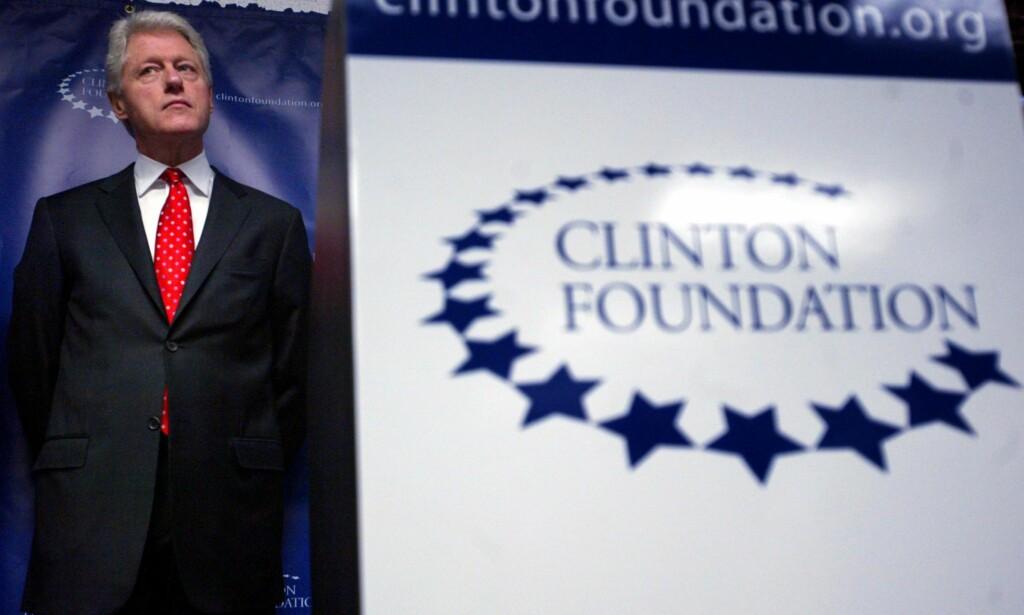 «HYKLERSK»: Tidligere president Bill Clinton grunnla den humanitære organisasjonen William J. Clinton Foundation i sin nåværende form i 2001, etter at stiftelsen i fire år hadde hatt som fokus å skaffe penger til hans presidentkampanje. Artikkelforfatteren mener det er hyklersk av Norge å støtte stiftelsen. Foto: Mary Altaffer / AP / NTB Scanpix