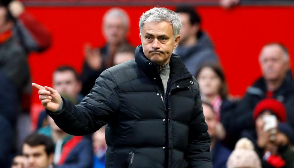 NÆRMER SEG: Manchester United-manager Jose Mourinho er ikke langt unna sitt første trofe som United-sjef. Foto: NTB Scanpix