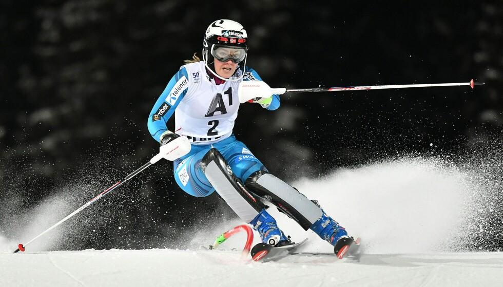 <strong>TOER:</strong> Nina Løseth i slalåm. Foto: AFP PHOTO / APA / BARBARA GINDL / Austria OUT