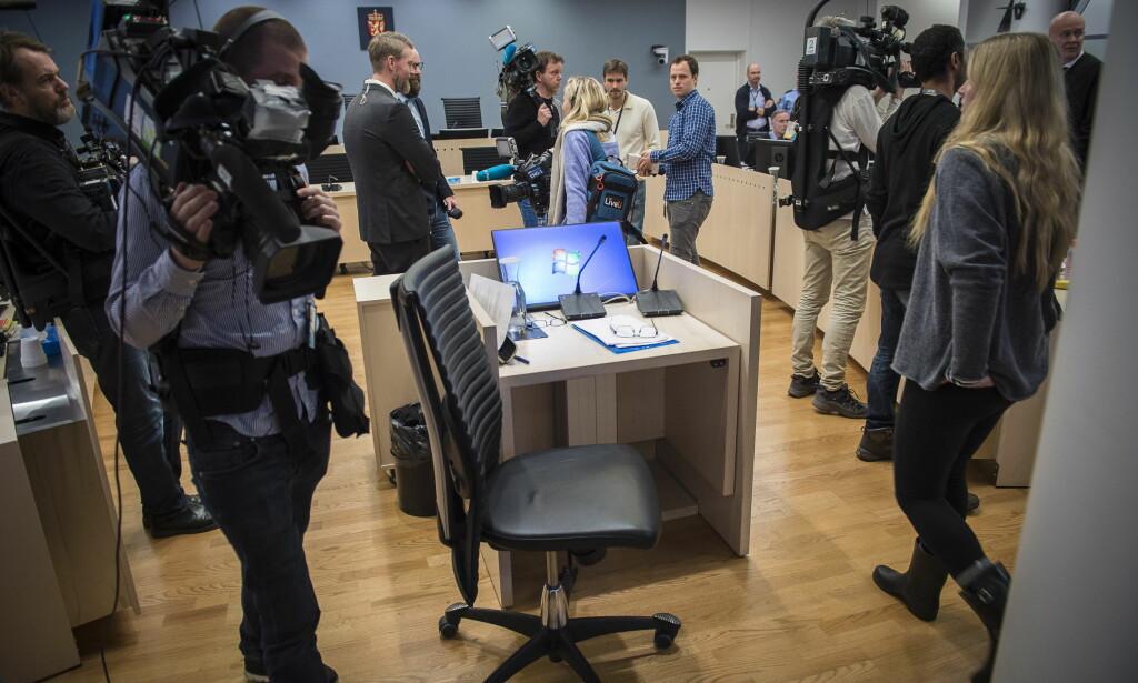 VITNER I DAG: Jensen fortsetter sin forklaring i retten i dag. Foto: Lars Eivind Bones / Dagbladet