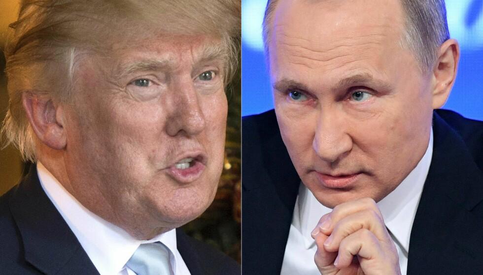 I HARDT VÆR: Donald Trump og Vladimir Putin. Foto: AFP / NTB / Scanpix