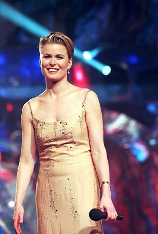 STOR SUKSESS: I 1999 var Vendela programleder for Melodifestivalen i Stockholm. Foto: NTB scanpix