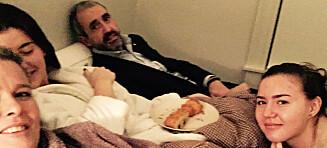 Fikk frokost på senga av døtrene - og eksmannen