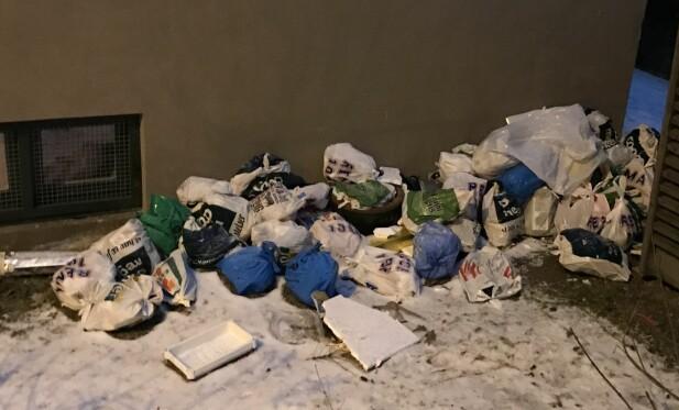 LESERBILDE: Søpla flyter fortsatt mange steder i Oslo. Foto: Privat.