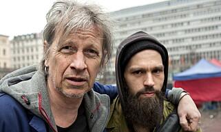 BANDKOMPISER: Svenske Stefan Sundström (t.v) og Erling «Æ» Ramskjell. Foto: Anders Grønneberg